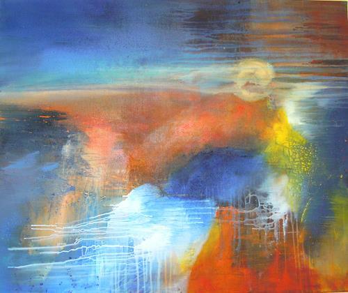Ingrid Kainz, Sonnensturm, Abstraktes, Abstraktes, Abstrakte Kunst, Expressionismus