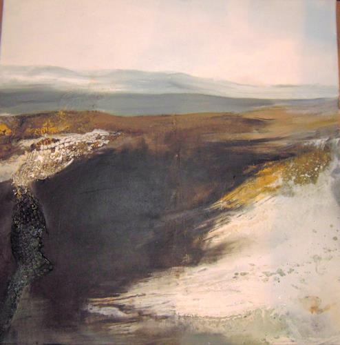 Ingrid Kainz, Gletscher 1, Abstraktes, Land-Art