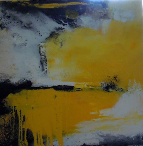 Ingrid Kainz, Gelb, Abstraktes, Abstraktes, Abstrakte Kunst, Expressionismus