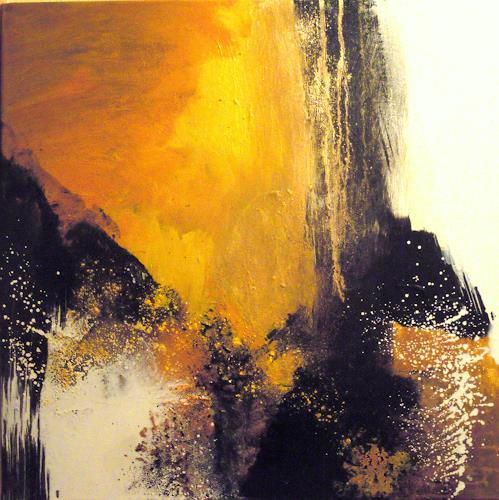 Ingrid Kainz, Gelber Traum, Abstraktes, Abstrakte Kunst
