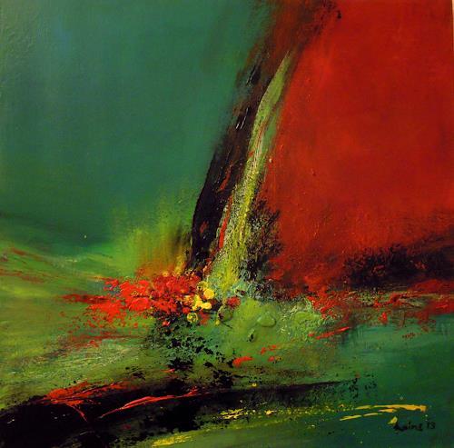 Ingrid Kainz, voller Hoffnung, Abstraktes, Abstraktes, Abstrakte Kunst, Expressionismus