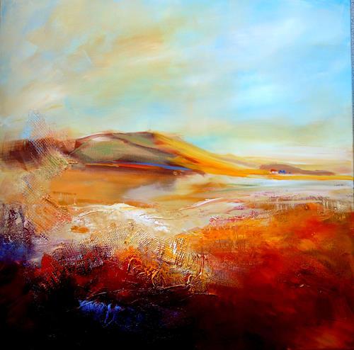 Ingrid Kainz, Herbststimmung, Landschaft: Berge, Abstraktes, Abstrakte Kunst, Expressionismus