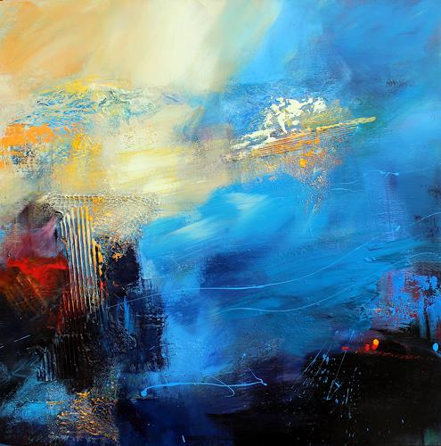 Ingrid Kainz, Meeresbrise, Abstraktes, Natur: Wasser