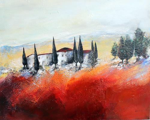 Ingrid Kainz, Toskana, Diverse Landschaften, Landschaft
