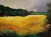 Ingrid-Kainz-Landschaft-Ebene-Landschaft-Fruehling-Gegenwartskunst-Land-Art
