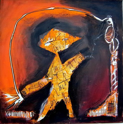 Cäcilia Schlapper, der Erzähler, Abstraktes, Abstrakte Kunst, Abstrakter Expressionismus