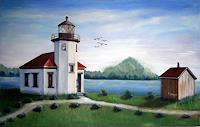 Caecilia-Schlapper-Landschaft-See-Meer-Moderne-Fotorealismus