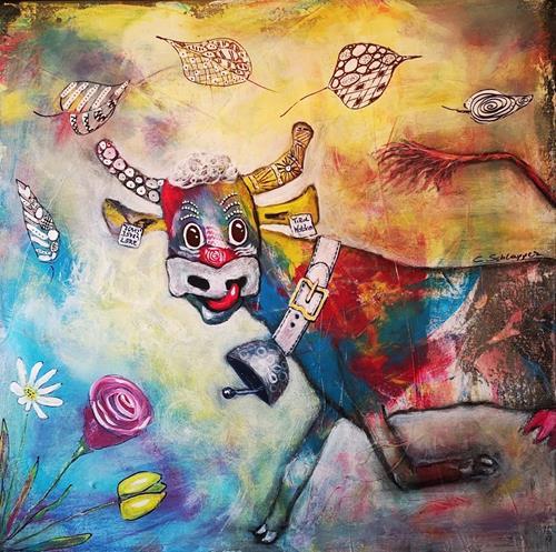Cäcilia Schlapper, Sissy (auf Wanderschaft), Tiere: Land, Fantasie, Art Déco, Expressionismus