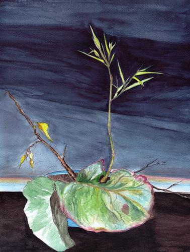 Peter Schleipfer, Ikebana, Diverse Pflanzen, Symbolismus, Moderne