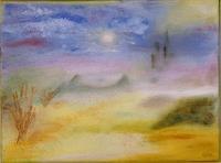 Eri-Art-Landschaft-Huegel-Stilleben