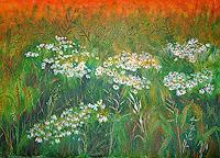 Frank-Ziese-Landschaft-Sommer-Diverse-Pflanzen-Moderne-Impressionismus