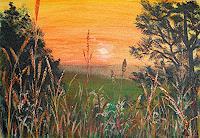 Frank-Ziese-Romantik-Sonnenuntergang-Diverse-Landschaften-Moderne-Impressionismus