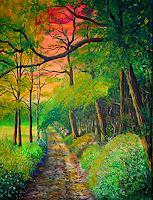 Frank-Ziese-Natur-Wald-Romantik-Sonnenuntergang-Moderne-Impressionismus