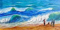 Frank-Ziese-Menschen-Kinder-Landschaft-See-Meer-Moderne-Impressionismus
