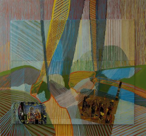 Sebastian Burckhardt, Hügeln und Vorhänge, Diverses, Abstraktes, New Image Painting