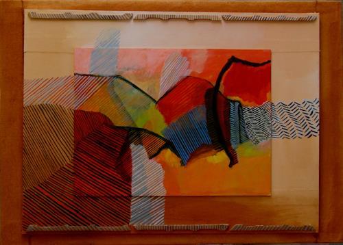 Sebastian Burckhardt, Wärme, Abstraktes, Landschaft: Berge, Abstrakte Kunst
