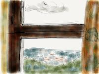 Sebastian-Burckhardt-Gefuehle-Geborgenheit-Landschaft-Huegel-Gegenwartskunst-New-Image-Painting