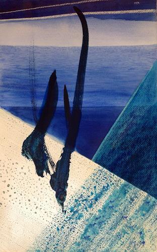 Sebastian Burckhardt, On a Ship, Landschaft: See/Meer, Bewegung, New Image Painting, Abstrakter Expressionismus