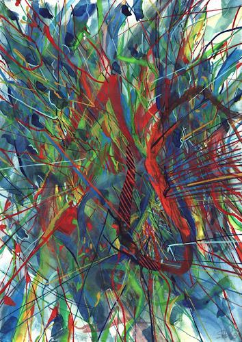 Sebastian Burckhardt, City Life2, Diverses, Abstraktes, Gegenwartskunst
