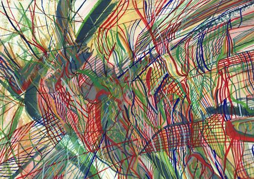 Sebastian Burckhardt, City Life 3, Abstraktes, Diverses, Gegenwartskunst