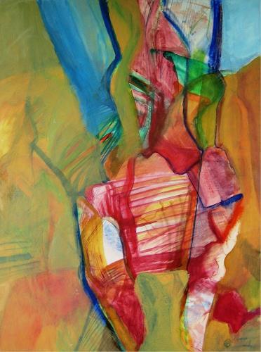 Sebastian Burckhardt, Zweite Treppe rechts, Diverses, Abstraktes, Gegenwartskunst