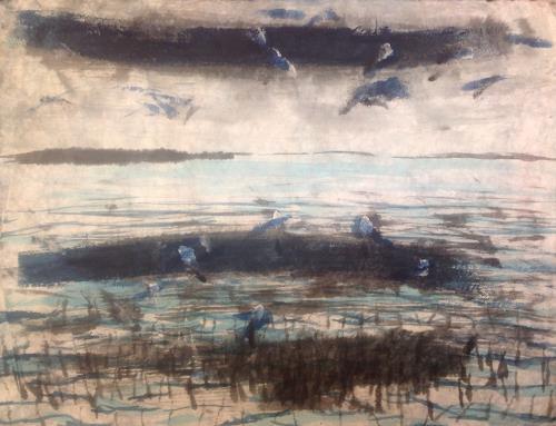 Sebastian Burckhardt, Birds7, Diverses, Bewegung, Gegenwartskunst, Expressionismus