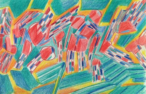 Sebastian Burckhardt, Pastell Book 35, Diverses, Abstraktes, Gegenwartskunst