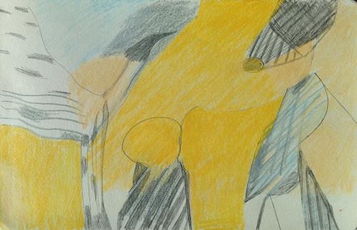 Sebastian Burckhardt, Pastell Book 38, Diverses, Abstraktes, Gegenwartskunst