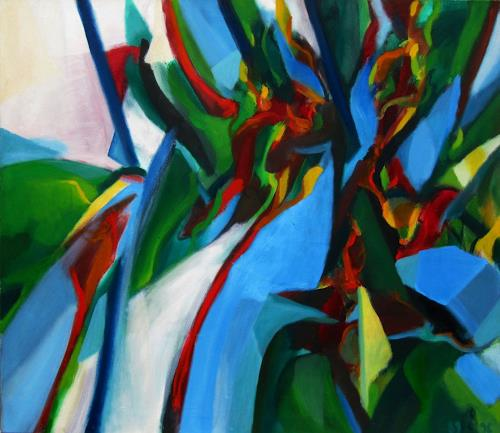 Sebastian Burckhardt, Djungle Flora, Natur: Diverse, Landschaft: Tropisch, Gegenwartskunst