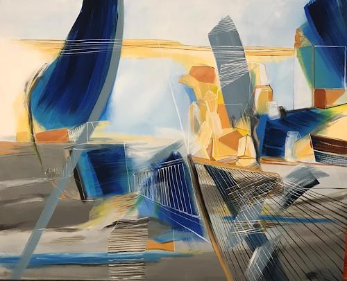 Sebastian Burckhardt, Stadtlandschaft, Diverse Landschaften, Informel, Abstrakter Expressionismus