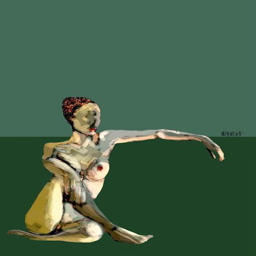 bohemiogus, s.t., Akt/Erotik: Akt Frau, Akt/Erotik: Akt Frau, Romantik, Abstrakter Expressionismus