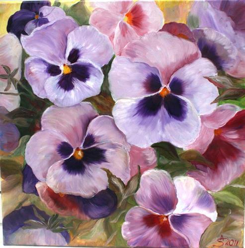 Anett Struensee, Stiefmütterchen, Pflanzen: Blumen, Naturalismus