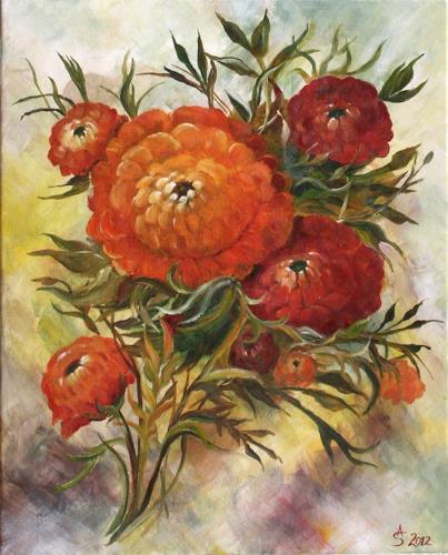 Anett Struensee, Ranunkel, Pflanzen: Blumen, Naturalismus