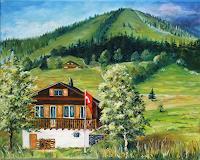 Anett-Struensee-Bauten-Haus-Landschaft-Berge-Moderne-Naturalismus