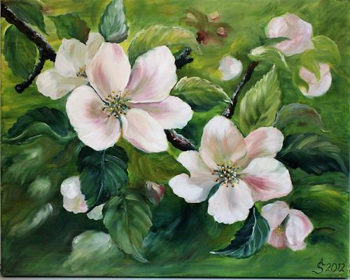 Anett Struensee, Apfelblüten, Pflanzen: Blumen, Dekoratives, Naturalismus