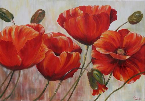 Anett Struensee, Sommer, Pflanzen: Blumen, Natur, Naturalismus, Expressionismus