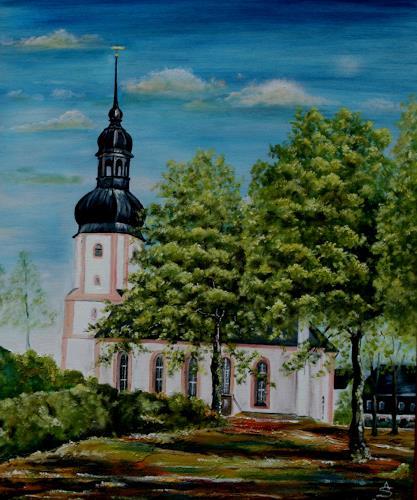 Anett Struensee, Johanniskirche Rußdorf, Bauten: Kirchen, Architektur, Naturalismus