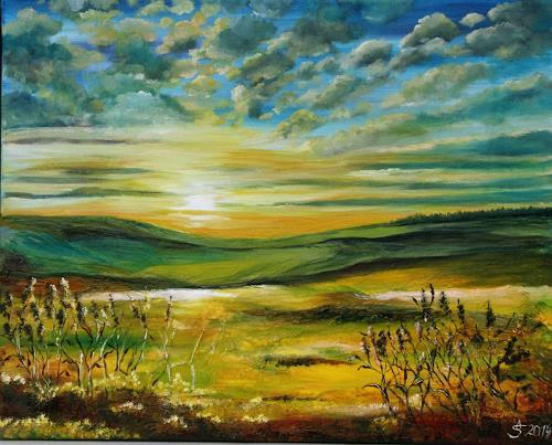 Anett Struensee, Vertrauen, Landschaft, Landschaft: Sommer, Naturalismus