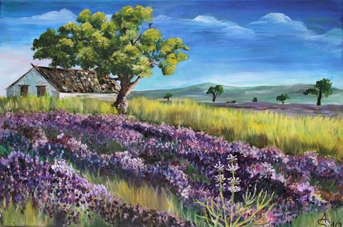 Anett Struensee, Lavendel, Landschaft: Sommer, Diverse Pflanzen, Naturalismus