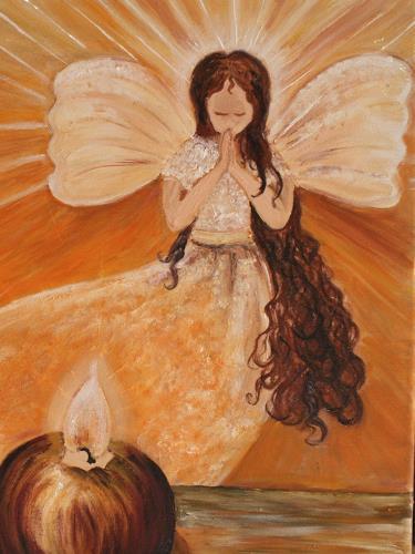 Anett Struensee, Engel, Gefühle, Glauben, Abstrakte Kunst