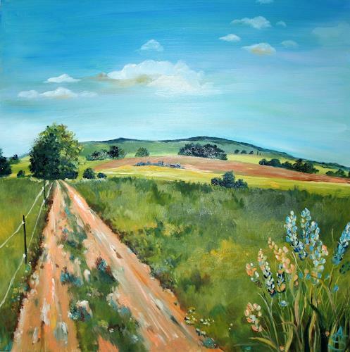 Anett Struensee, Auszeit (Limbach-O.), Landschaft: Ebene, Landschaft: Sommer, Naturalismus, Expressionismus