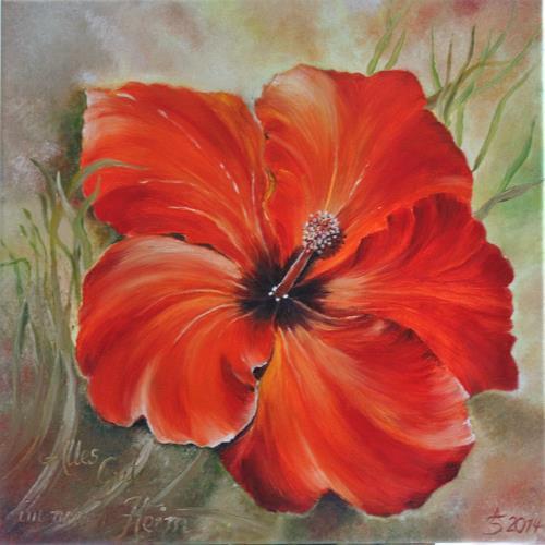 Anett Struensee, Momentaufnahme, Pflanzen: Blumen, Naturalismus, Expressionismus