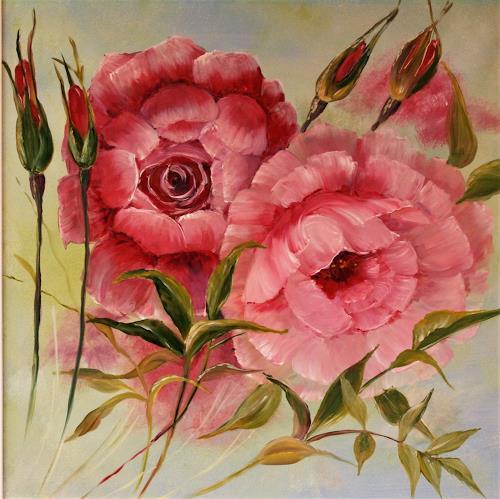 Anett Struensee, zarte Rosen, Pflanzen: Blumen, Gefühle: Liebe, Naturalismus