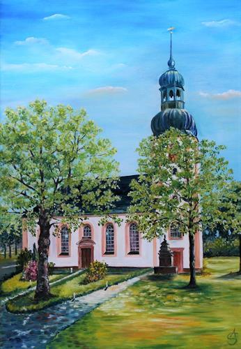Anett Struensee, Johanniskirche, Landschaft: Frühling, Architektur, Naturalismus