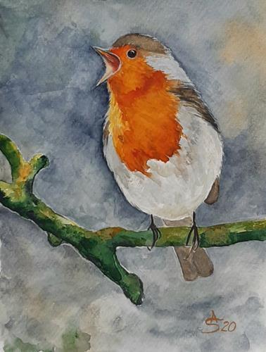 Anett Struensee, Vogel des Jahres 2021, Tiere: Luft, Natur: Luft, Naturalismus, Expressionismus