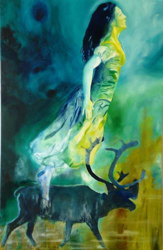Doris Koutras, Erde Himmel, Mythologie, Gegenwartskunst, Expressionismus