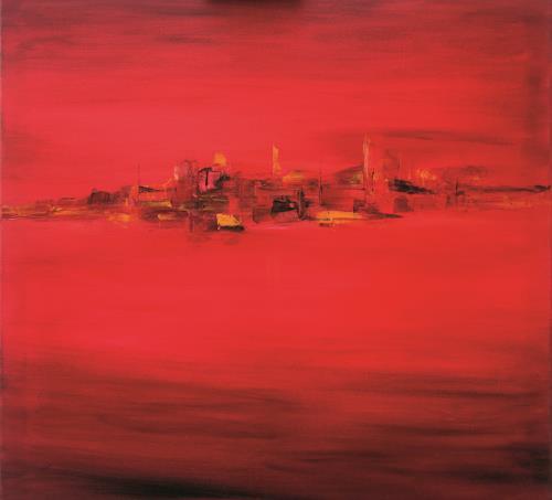 Meltem Gioli, RED LANDSCAPE, Abstraktes, Abstrakte Kunst, Abstrakter Expressionismus