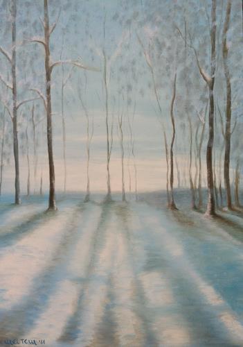 Meltem Gioli, INVERNO / WINTER, Landschaft: Winter, Impressionismus, Expressionismus