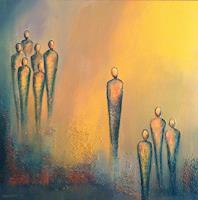 Meltem-Gioli-Menschen-Gruppe-Moderne-Abstrakte-Kunst