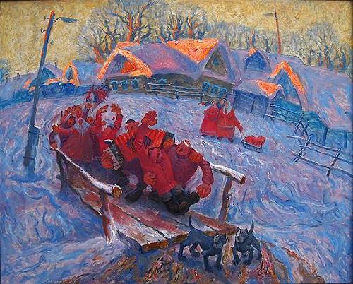 Evgeniy Shibanov, Having Good Time, Abstraktes, Abstrakter Expressionismus